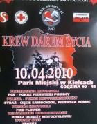Plakat Motoserce - Kielce 2010