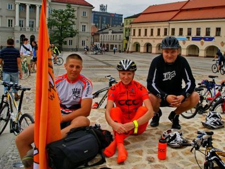 Polska na rowery. Kielce, Rynek.